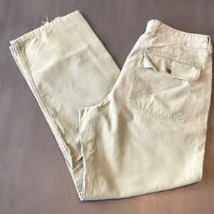 J. Crew army green patch pocket pants. 34/32
